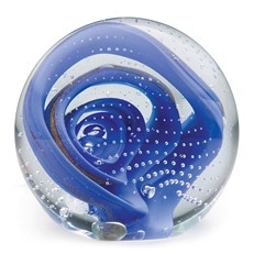 Large Paperweight - Periwinkle Lollipop