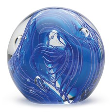 Large Paperweight - Blue Ribbons