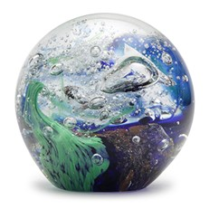 Small Paperweight - Blue Green Wave