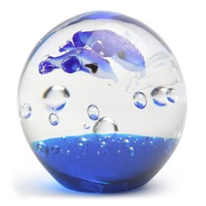Small Paperweight - Dolphins Aqua