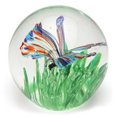 Small Paperweight - Butterfly Rainbow Glow