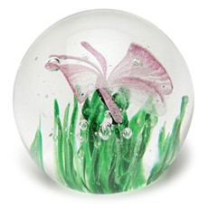 Small Paperweight - Butterfly Pink Glow