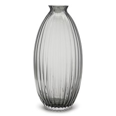 Ribbed Beehive Grey Vase