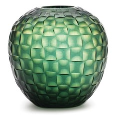 Woven Facets Vase - Green