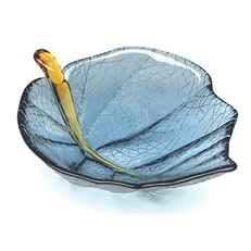 Small Leaf Bowl - Steel Blue