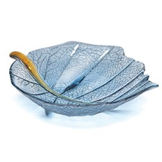 Large Leaf Bowl - Steel Blue