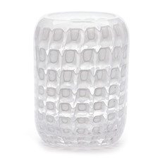 Cubic Beehive Vase - Opal White