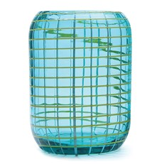 Cubic Beehive Vase - Mojito Blue