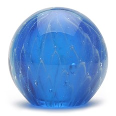 Small Paperweight - Blue Web Glow