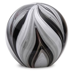 Large Paperweight - Feathers Black & White Glow