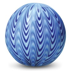 Large Paperweight - Chevron Royal Blue