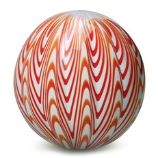 Large Paperweight - Chevron Tangerine