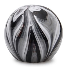 Small Paperweight - Feathers Black & White Glow