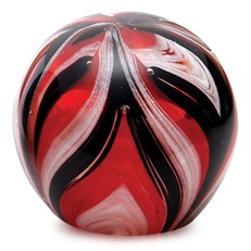 Small Paperweight - Feathers Black & Red Glow