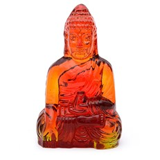 Guanyin (Female Buddha) - Red Amber
