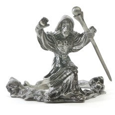 Metal Paperweight Stand - Wizard