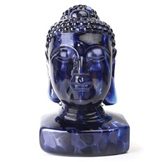Guanyin (Female Buddha) Head - Indigo Blue