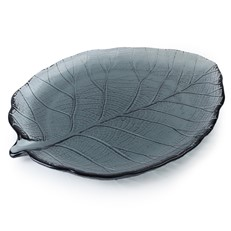 Small Leaf Plate - Smoky Grey