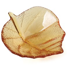 Small Leaf Bowl - Amber
