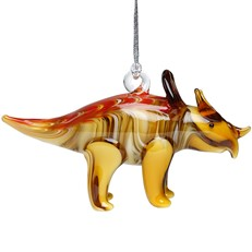 Glassdelights Ornament Triceratops