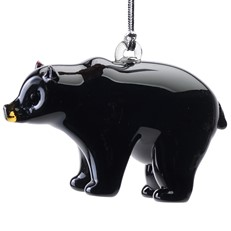 Glassdelights Ornament Black bear