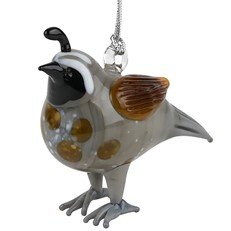 Glassdelights Ornament - Quail