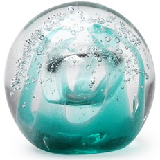 Small Paperweight - Ice Cave Teal Glow