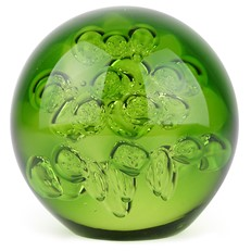 Large Spa Bubbles Paperweight - Peridot