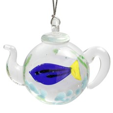 Teapot Ornament - Blue Tang Fish