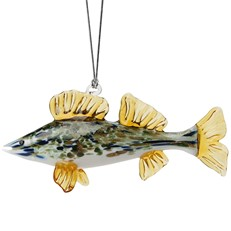 Glassdelights Ornament - Walleye Fish