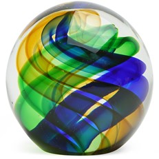 Small Paperweight - Interstellar Swirl, Green