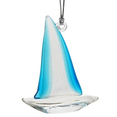 Glassdelights Ornament - Sailboat Glow