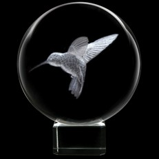Crystal Sphere - Hummingbird