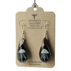 Jellyfish Earrings - White Glow