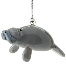 Glassdelights Ornament - Manatee