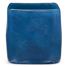 Glass Cube Vase Ultramarine Blue