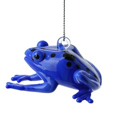 Glassdelights Ornament - Poisonous Dart Frog, Blue