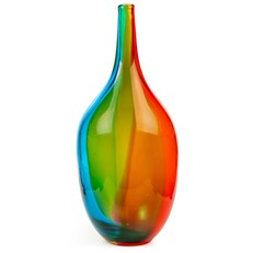 Glass Teardrop Vase - Painterly Rainbow