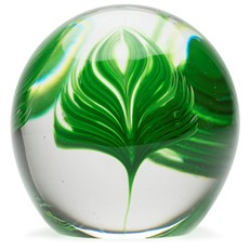 Glass Paperweight - Palm Leaf