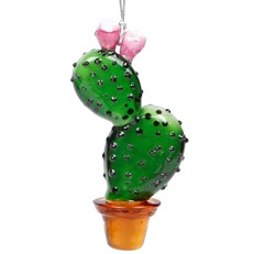 Glassdelights Ornament - Prickly Pear Cactus