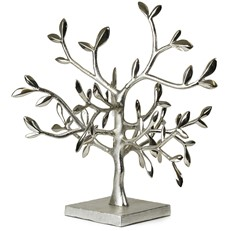 Metal 4-Way Leaf Ornament Tree