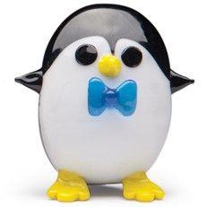 Mini Penguin with Bow Tie - Blue
