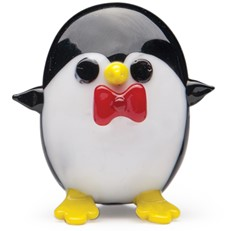 Mini Penguin with Bow Tie - Red