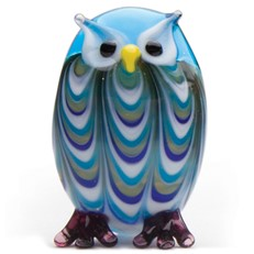 Mini Feathered Owl - Blue