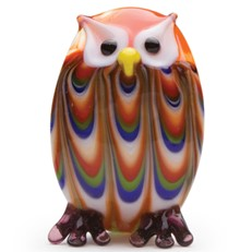 Mini Feathered Owl - Red