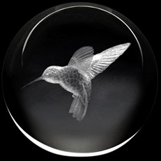 Crystal Paperweight - Hummingbird