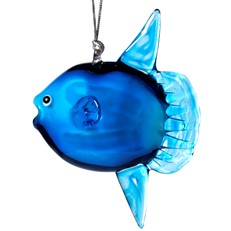 Glassdelights Ornament - Mola Mola, Blue