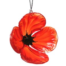 Glassdelights Ornament - Red Poppy