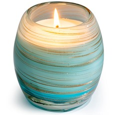 Glisten+Glass Candle Blue Gold Shimmer - Winter Forest