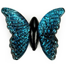 Glass Magnet - Morpho Butterfly